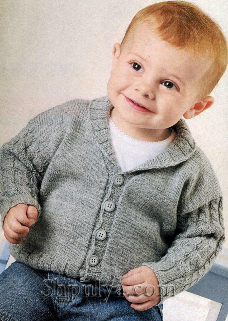 Связать кофточку для мальчику 1 год