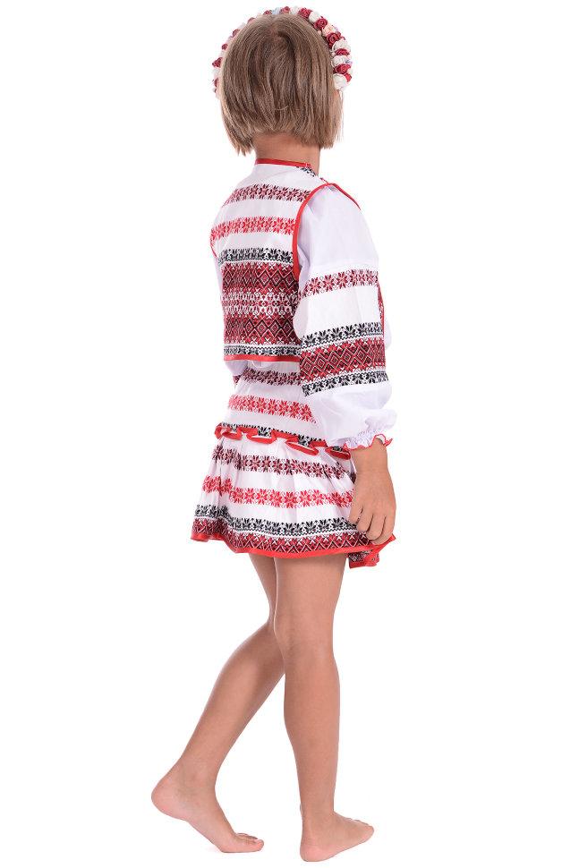 Вышиванка-костюм для девочки Alenka plus 0025